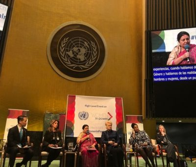 Prez Bhandari gives speech on gender equality at President of General Assembly