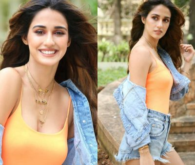Disha Patani's denim hot pants and jacket look is all you need to slay on a date with your boy friend